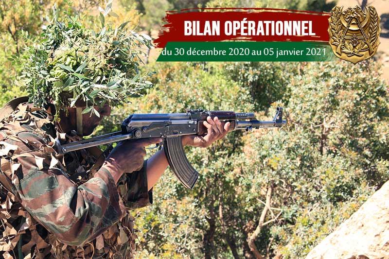 Bilan opérationnel hebdomadaire des détachements de l'ANP: professionnalisme, vigilance et disponibilité - Algérie