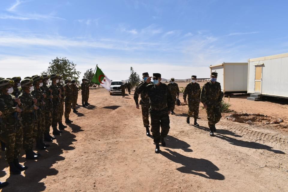 Le Commandant des Forces Terrestres en visite au secteur opérationnel Sud-est Djanet - Algérie