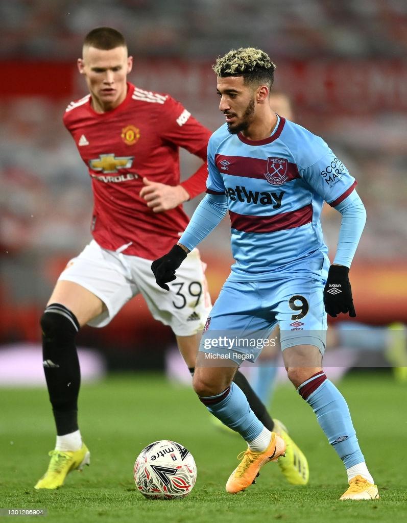 FA Cup : Benrahma et West Ham, éliminés face à Manchester United - Algérie