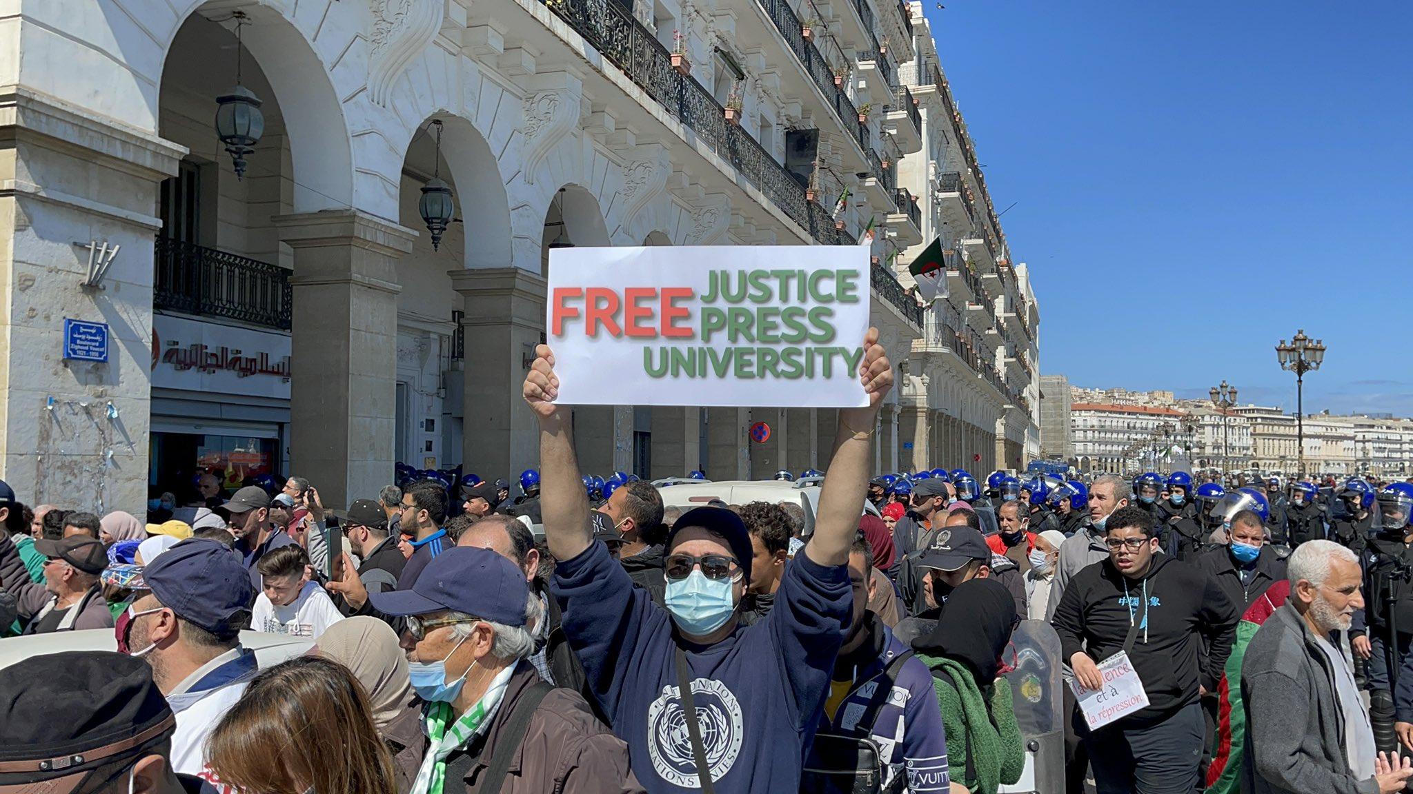 Nouvelle marche des étudiants à Alger - Algérie