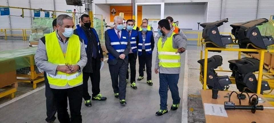 Le médiateur de la Présidence à l'usine Renault Algérie Production - Algérie