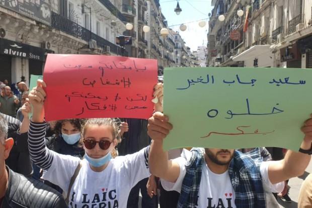 114e vendredi : des manifestants apportent leur soutien à Saïd Djabelkhir - Algérie