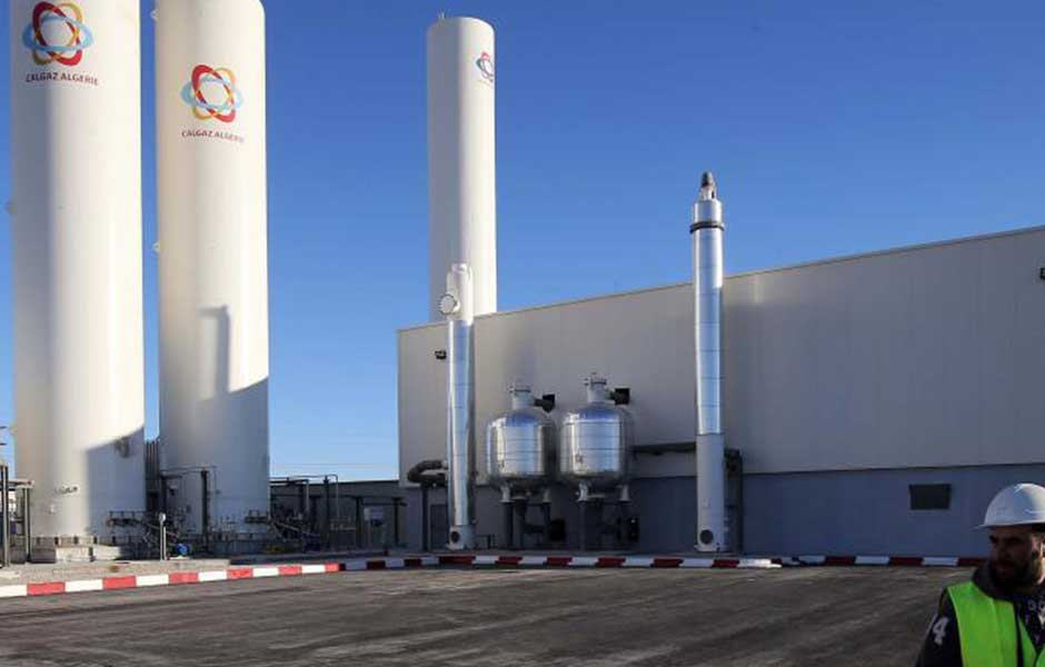 Exportation de 81.000 litres d'oxygène médical liquide vers la Tunisie - Algérie
