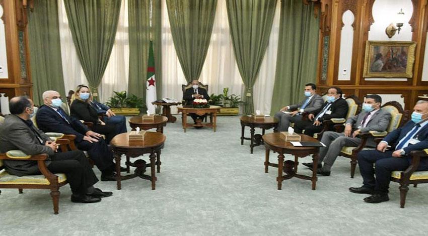 Le Président Tebboune reçoit des représentants de la société civile - Algérie