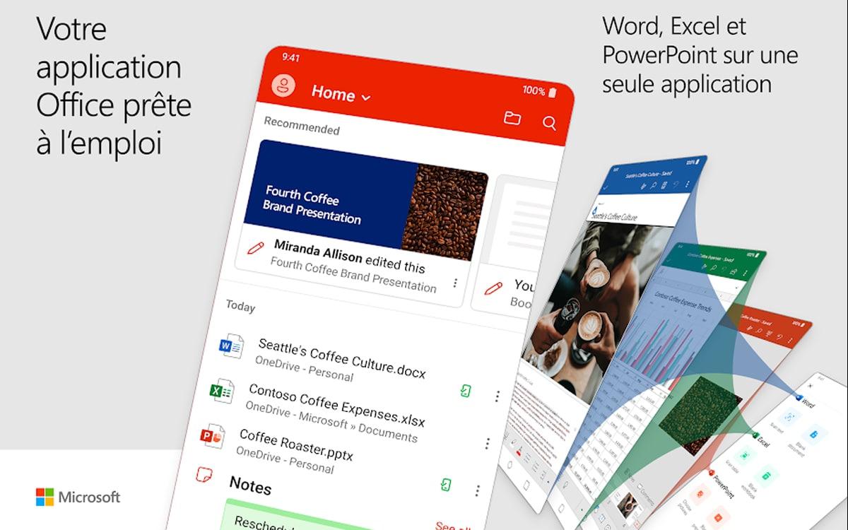 Microsoft office se met à jour pour Android - Algérie