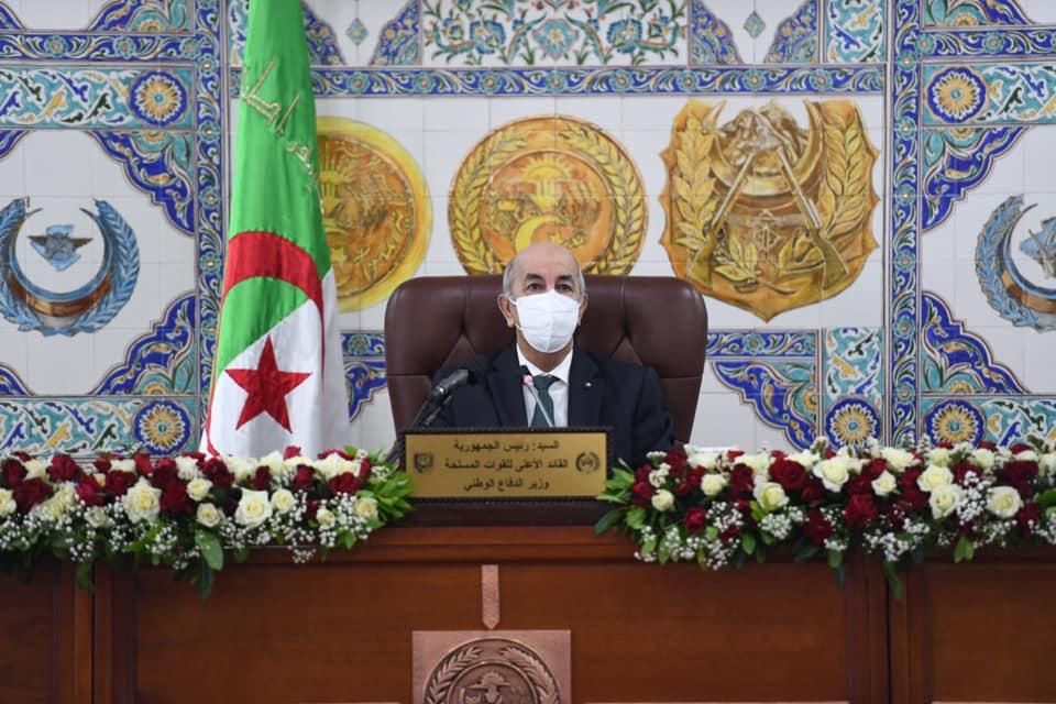 الرئيس تبون يعزي عائلاتي ورفقاء الشهيدين مباركي سعد الدين وقايد عيشوش عبد الحق - الجزائر