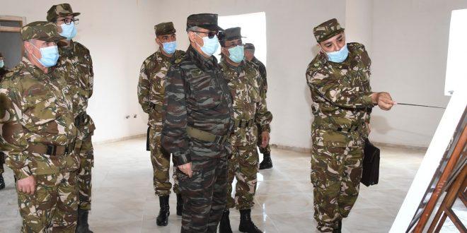 اللواء عثامنية في زيارة عمل وتفتيش إلى الأكاديمية العسكرية لشرشال - الجزائر