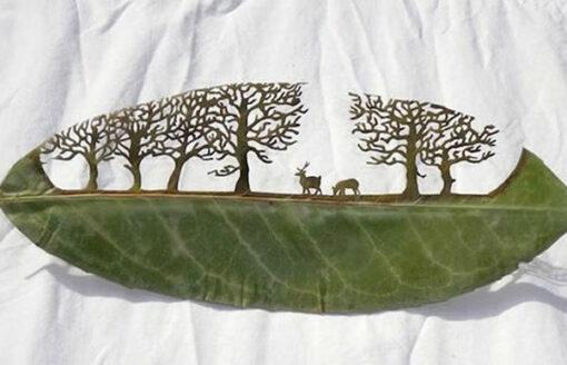 أتصدق أن هذه المنحوتات من ورق الأشجار ؟صور ستبهرك بجمالها