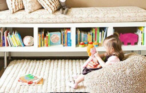 أفكار مبدعة وذكية لتخزين كتب الأطفال